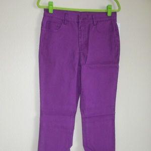 Diane Gilman Boot Cut Pretty in Purple Jeans